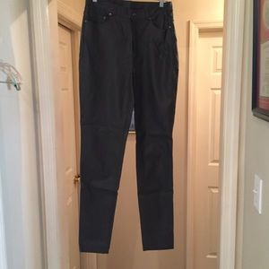 DG2 faux leather charcoal gray pants, size 8Tall